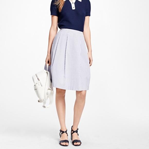 Brooks Brothers Dresses & Skirts - Brooks Brothers • Seersucker Blue Skirt